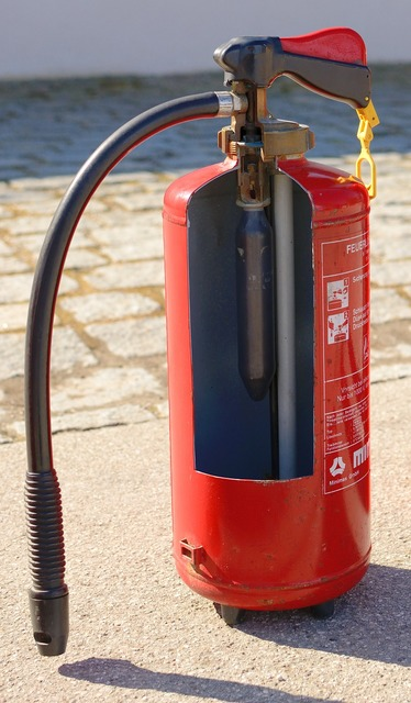Function inside fire extinguisher.