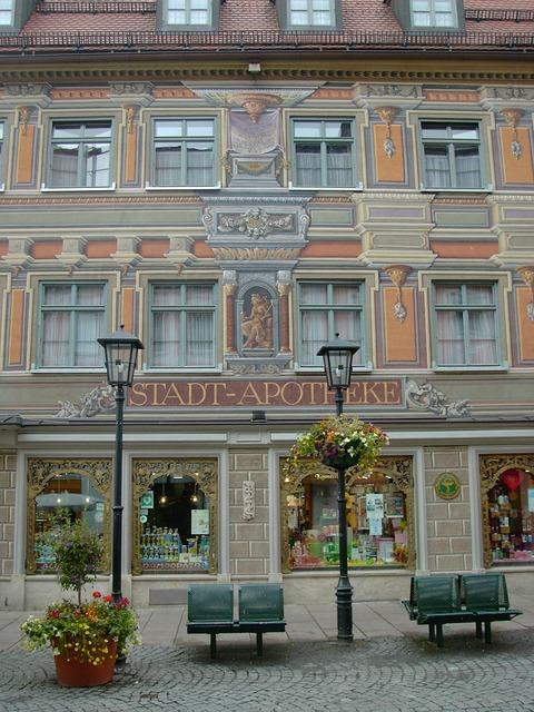 Füssen city pharmacy imposing.