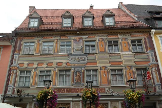 Füssen home facade, architecture buildings.