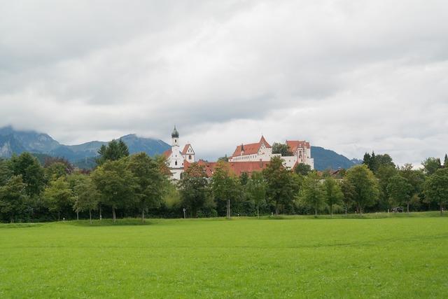 Füssen st mang abbey high castle.