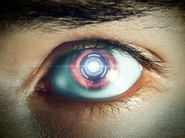 Future eye robot eye.