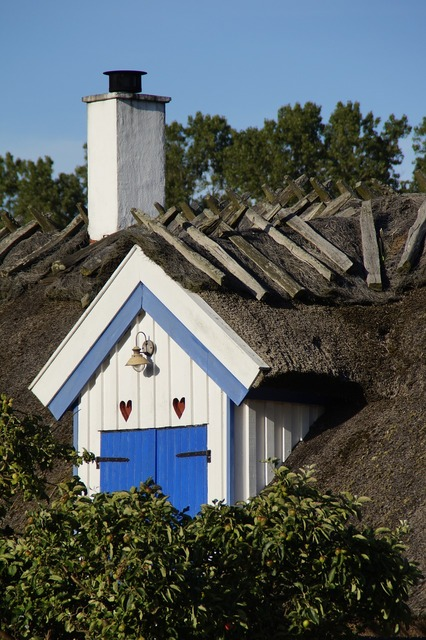 Gable home thatched, architecture buildings.