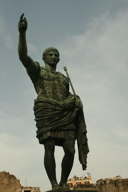 Gaius iulius caesar statue emperor, architecture buildings.