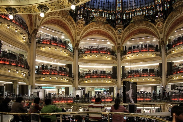 Gallery lafayette department store paris.