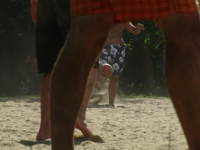 Game ball sand, sports.