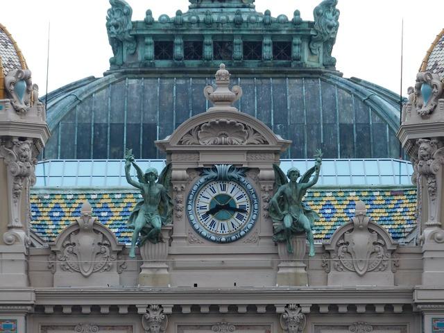 Game bank casino clock, architecture buildings.