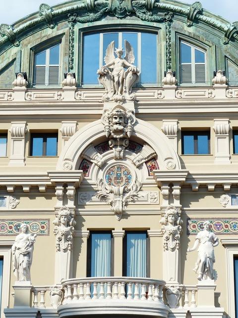 Game bank casino facade, architecture buildings.