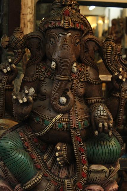 Ganesha elephant god, religion.