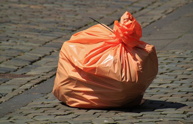Garbage bag waste non recyclable waste.