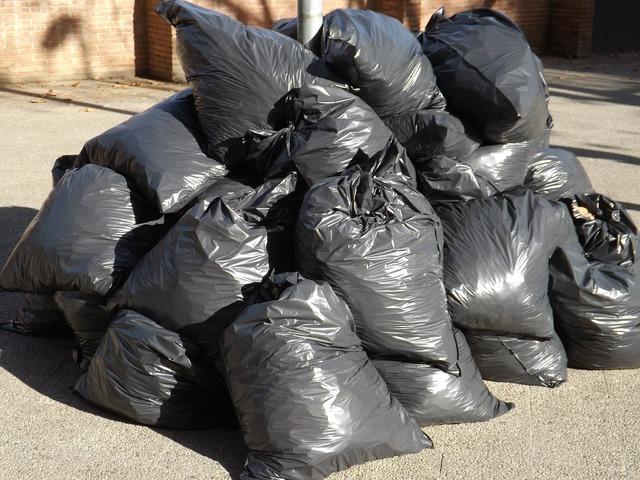 Garbage bags waste.