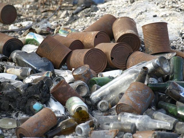 Garbage scrap waste.