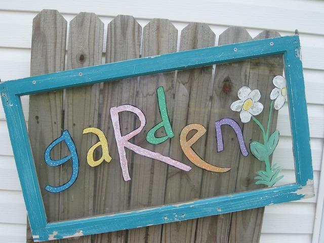 Garden art fence.