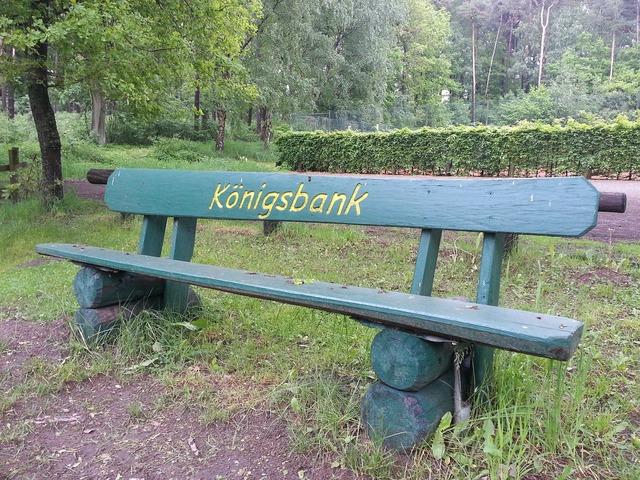 Garden bench bank rest.