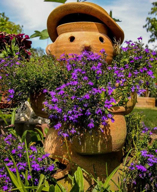 Garden flowers decoration.