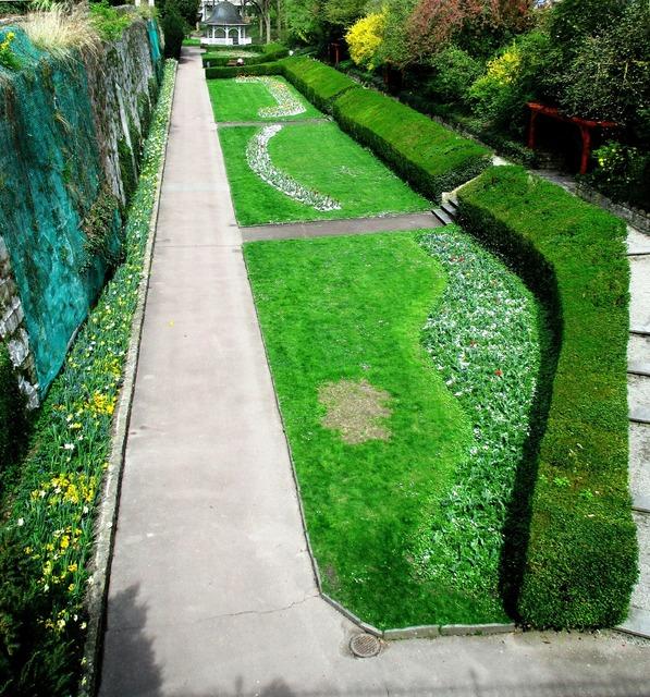 Garden green area city garden.