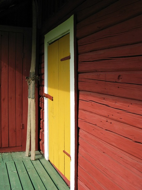 Garden shed porch skis, places monuments.