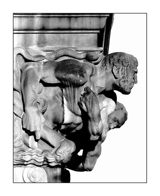 Gargoyle statue figure, architecture buildings.