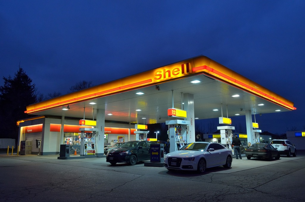 Gas station oil industry oil prices, transportation traffic.