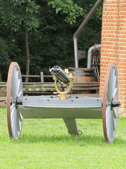 Gatling gun machine gun military.