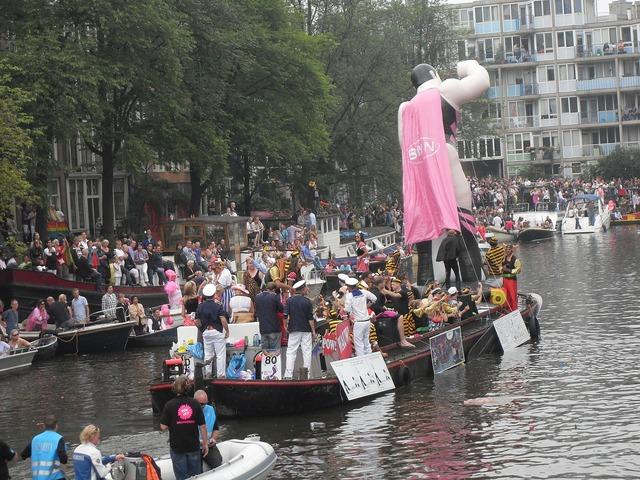 Gay parade beaten up amsterdam summer.