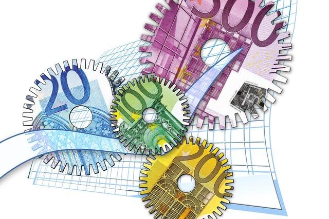 Gear gears euro, business finance.