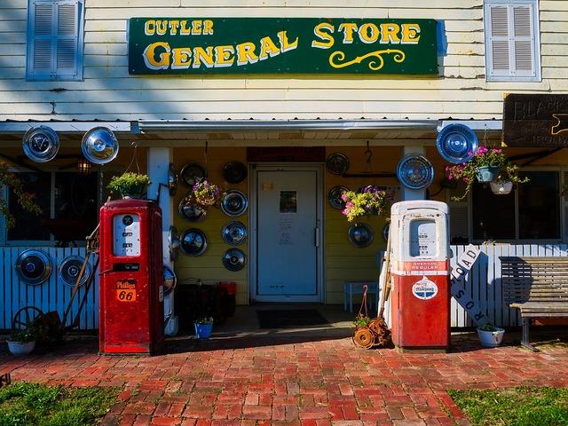 General store shop building, architecture buildings.