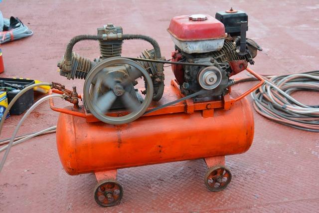 Generator compressor equipment, nature landscapes.