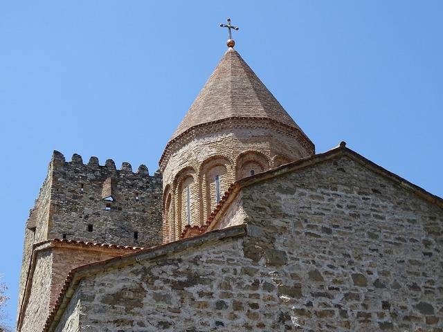 Georgia fortress ananuri, religion.