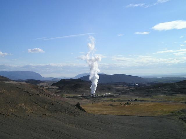 Geothermal energy power plant.