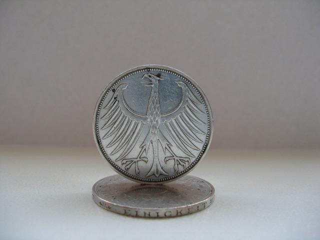 German mark dm silver.