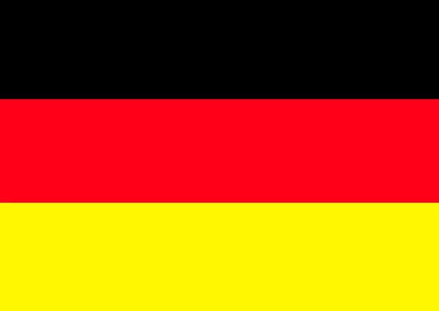 Germany flag black red gold, sports.