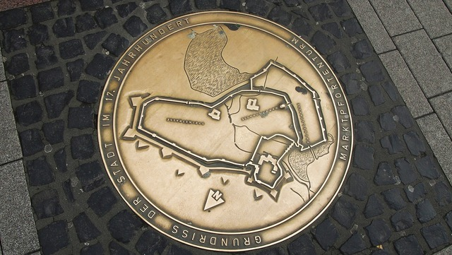 Germany german map pavement.