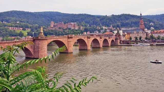 Germany heidelberg city gate, architecture buildings.