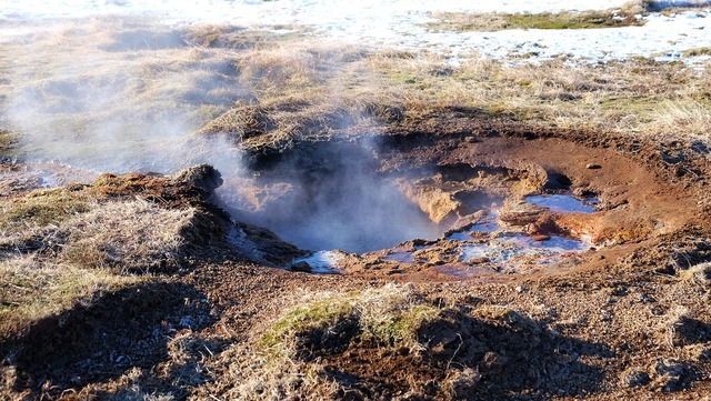 Geysir geothermal field hot springs.