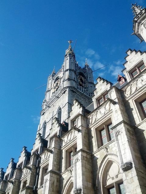Ghent historical historic building, architecture buildings.
