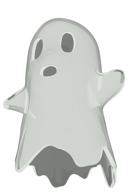 Ghost scary cute.