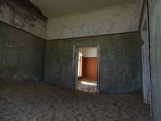 Ghost town kolmanskop namibia, architecture buildings.