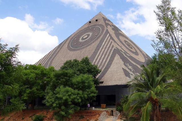 Giant pyramid meditation yoga.