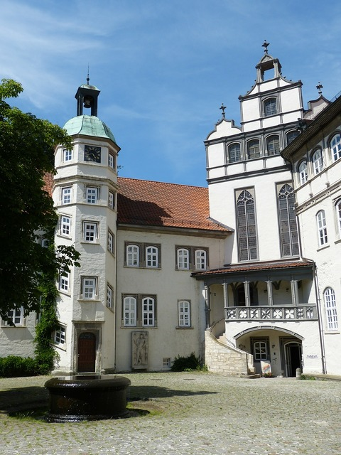 Gifhorn castle palace, architecture buildings.