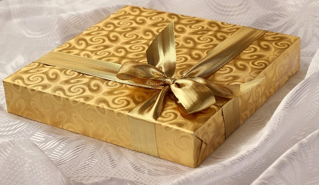 Gift box present, backgrounds textures.