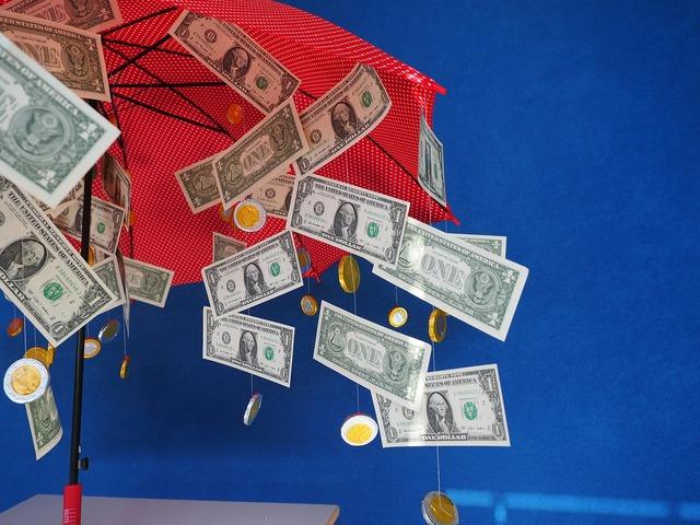 Gift money rain dollar rain, business finance.