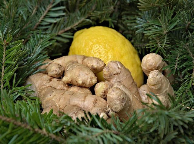 Ginger lemon holidays, food drink.