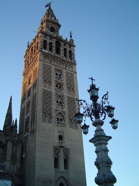 Giralda seville spain, architecture buildings.