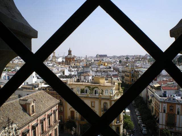Giralda views seville, architecture buildings.