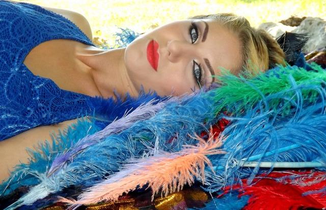 Girl blond hair blue eyes, people.