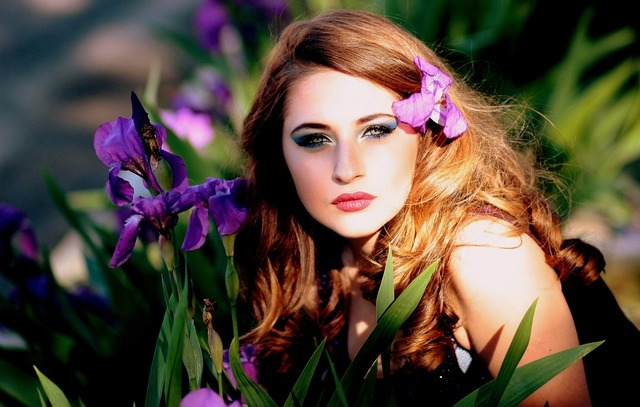 Girl blonde blue eyes, people.