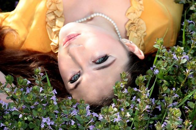 Girl blue eyes seductive, people.