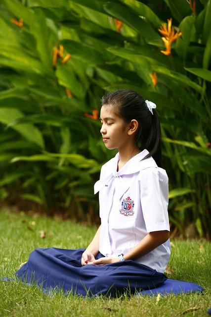 Girl buddhism meditation, people.