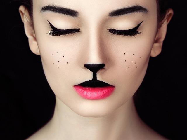 Girl cat kitten, people.