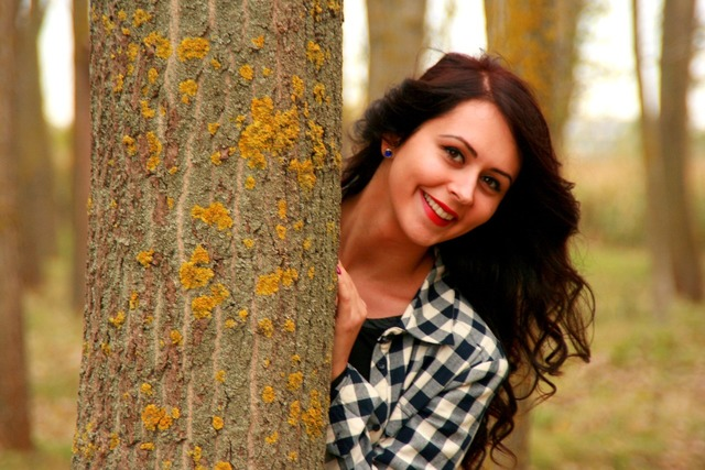 Girl portrait brunette, people.